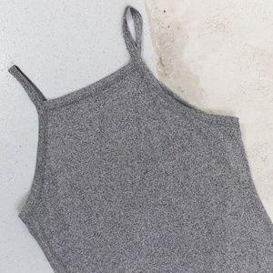 Miss Selfridge - High Neck Body Con Dress - Grey